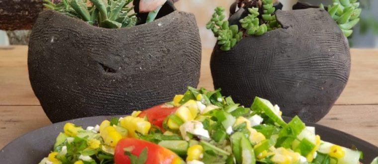 סלט ירקות הגינה שלי🍅🌽🥒