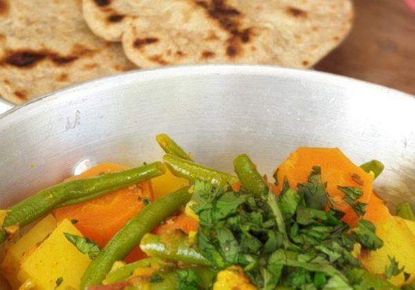 סבג'י ירקות בסגנון הודי?♀️??♀️