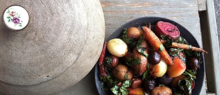 קדרת ירקות שורש וערמונים